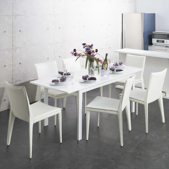 簡単伸長!スマート伸長式テーブル 幅140・180cm (テーブル伸長時) ※お届けは伸長式テーブルのみです。