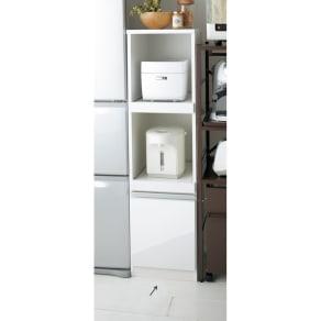 組立不要 幅と高さが選べる家電収納庫  ミドルタイプ 幅35cm・奥行45cm 写真