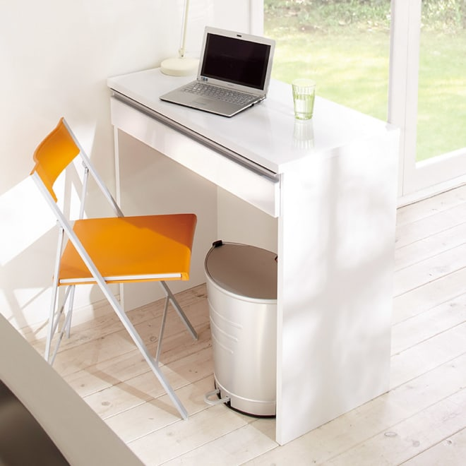間仕切りキッチンカウンター カウンターデスク 幅90cm (ア)ホワイト ※お届けはデスクです。チェア等は含まれません。