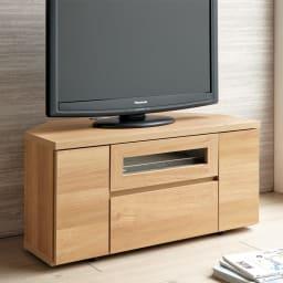 天然木調お掃除がしやすいコーナーテレビ台 幅90cm (イ)ナチュラル