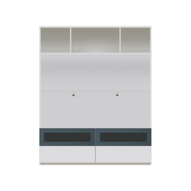 毎日の使いやすさを考えた収納システム テレビ台オープンタイプ 幅140cm (ア)ホワイト