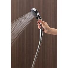 ストップ&節水メタリックシャワーヘッド