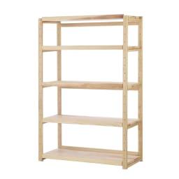 国産杉の無垢材キッチン収納 パントリーキッチンラック 幅119奥行51cm こだわりの国産杉を使用した、家電収納にも本棚にも使える壁面収納です。