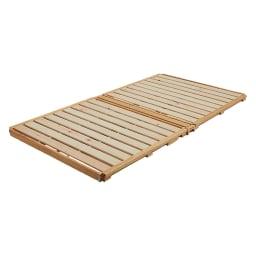 ぴったり並べられる折りたたみ ひのきすのこベッド お得な2台セット ※写真は幅108cmタイプです。