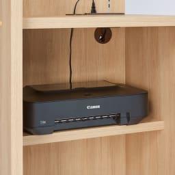 テレワークにおすすめ!おこもり個室デスク 幅85.5cm 下の棚にはプリンターを設置できます。