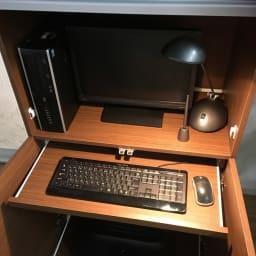 1台で収納もワークスペースも!PC周りすっきりデスク 幅75cm