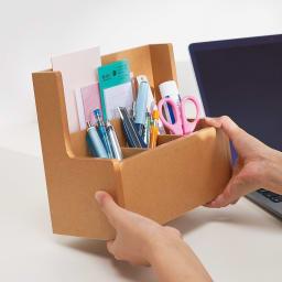 テレワーク快適ワゴン 幅60cm 【仕事がはかどる工夫が満載】ツールボックスは着脱式でテーブルの上でも使えます。