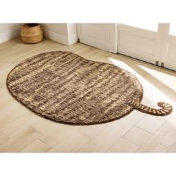リラックスウィズラグ ブチマル・トラマル 約130×185cm (エ)トラマルブラウン