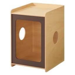 ペットと過ごす曲げ木サイドテーブル スリム (イ)ブラウン