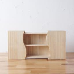 想ひ箱 日本製ミニ仏壇 ブラック・グレー 中の板は2段階で調整可能。 ※お届けの商品とは色が異なります。