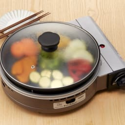 iwatani イワタニ ビストロの達人III カセットコンロ 蓋があるので料理の幅が広がります。