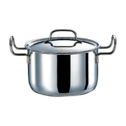 【特典2点付き】IH対応 服部先生のステンレス7層構造鍋「ジオ」 おすすめ3点セット 深型両手鍋
