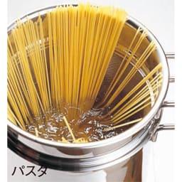 IH対応 服部先生のステンレス7層構造鍋「ジオ」 パスタポット径21cm 火を止めても高温をキープ。余熱でパスタがゆでられます。
