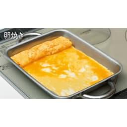 vitacraft/ビタクラフト ダブルグリル鍋 ガラス蓋セット 少量の油で焼く 油がなじんでいないとくっつきやすい卵焼きも少量の油できれいに仕上がります。