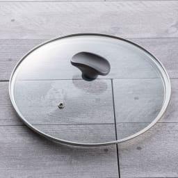 イタリア製 TVS mito/ミト ガラス蓋付き 深型フライパン 26cm