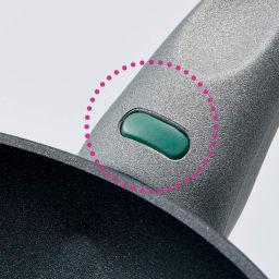 イタリア製 TVS mito/ミト 片手鍋 18cm 料理の始め時が、ひと目でわかる! ハンドルに搭載した温感センサーが黒から緑に変わったら、予熱完了のサイン。(両手鍋径24cmは除く)