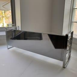 スライド水切り 専用ステンレス水はねガード セット例(お届けするのは水はねガードのみです)