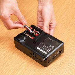 充電式テレビラジオ エコラジ7 [アルカリ乾電池] (イ)ブラック