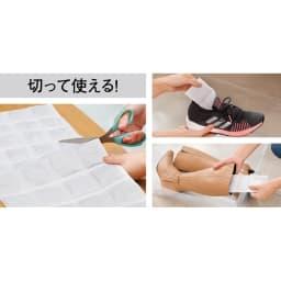 ピュアリフレ 調湿・脱臭マット 小さく切って靴の中に入れたり、長く切ってブーツに入れたり。お好みのサイズにはさみで簡単にカットできます。