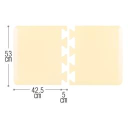 アキレス 立ち仕事に優しいマット 幅120 (イ)ライトベージュ はめ込むだけのジョイント式で長さ調節も簡単。