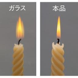 割れないミラー 額装風 樹脂フレーム 鮮明に映る! ガラス鏡(左)と比べ、割れないミラー(右)のほうがくっきり映ります。