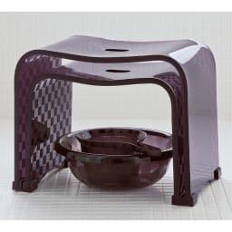 アクリル製バスチェア&バスボウル セット ※湯手桶はセット内容に含まれません。