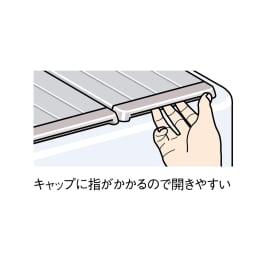 銀イオン配合 軽量・抗菌折りたたみ式風呂フタ サイズオーダー 奥行85cm(シルバー色)