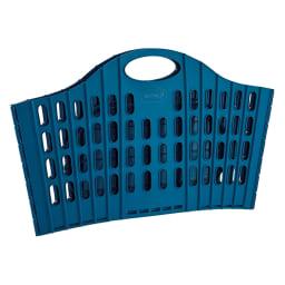 折りたたみバスケット2個セット ベーシック (イ)ブルー