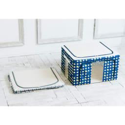 moz 衣類ケース 柄を選べる2個組 使わないときはフラットに畳めて省スペース。