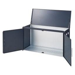 モダン2面開閉ダスト収納庫 幅125cm(容量290L) お届けの商品です。