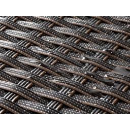 組立不要ラタン調ベンチ収納 幅90cm 水に強いウィッカー素材。