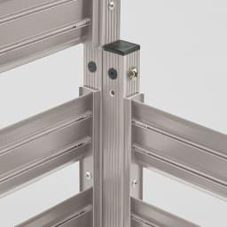 簡単リフォームアルミボーダーフェンス スーパーハイタイプ高さ180cm・幅90cm(1枚) フェンス同士を付属部品で連結、直線にもL字型にも対応。