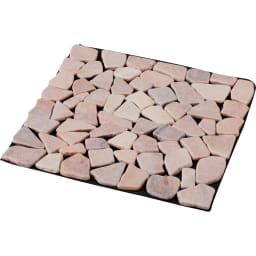 雑草が生えない天然石マット 同色12枚組 (ア)ピンク系