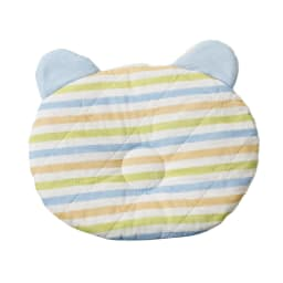 カラフルパシーマ pasima (R) ベビー汗とりわんわん枕 (イ)ブルーボーダー かわいいボーダー柄です!裏面は無地になります。