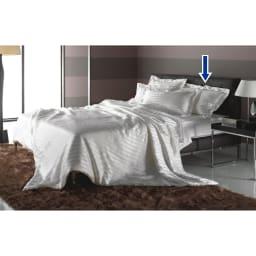 オールシルクシリーズ サテン織りピローケース 同シリーズの真綿布団と合せてオールシルクで贅沢にコーディネート。