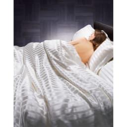 オールシルクシリーズ サテン織り掛け布団カバー ※シリーズコーディネート例。お届けは掛け布団カバーのみです