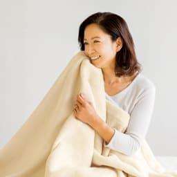 【毛布の老舗 三井毛織】エジプト超長綿やわらか綿毛布 掛け毛布 (イ)アイボリー