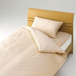 ダニゼロックお得な羽毛布団完璧セット(布団+カバー) ベッド用 お得なベッド用セット セット使いで寝具のダニ対策を徹底! ※掛け布団は羽毛布団となります。