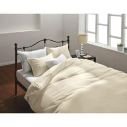 アンチストレス(R) 枕カバー  同色2枚組 (イ)アイボリー ※画像について、実際の色味より濃く出ています。