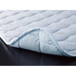 ファミリー布団用 速乾・消臭アクアジョブ(R)パッドシーツ レギュラータイプ(ファミリーサイズ・家族用) (ウ)サックス 寝汗を吸収、やさしい肌触り 寝汗もグンと吸収。汗冷えも防ぎます。