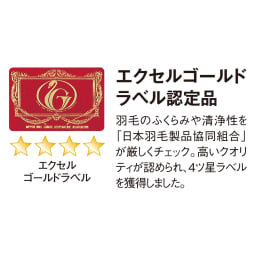 4つ星エクセルゴールドラベル羽毛×超長綿 ダウン枕