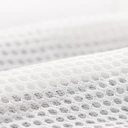 ブレスエアー敷布団デラックス側カバー単品 [セミシングル・シングル・セミダブル・ダブル] (マチ部&裏面) 寝汗やムレが気になる方も安心。立体メッシュの通気性で爽やかな寝心地。