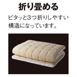 ブレスエアー(R)敷布団 ネオ シンプルセット 布団の上げ下ろしも簡単、ピタッと3つ折りしやすい構造です。