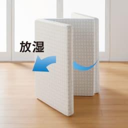 Afitマットレスシリーズ 3つ折り敷布団 立てかけておくだけで湿気を放出。ジメジメ対策やカビ予防に。 ※サイズによっては自立しないので、立てかけてください。
