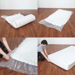 国産無塗装ひのきすのこベッド(すのこ板4分割仕様)ポケットコイルマットレス(厚さ19cm)付き