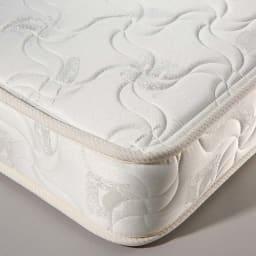 国産マットレス付き棚付き省スペースベッド(ショート/レギュラー) 寝心地にこだわった国産のポケットコイルマットレス