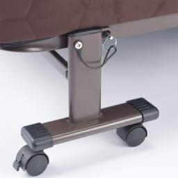 開梱してすぐ使える![組立不要]低反発ダブルリクライニング電動ベッド ベッド時もストッパーをして安心してお休みいただけます。