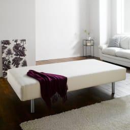 France Bed/フランスベッド 軽くて丈夫な脚付きマットレスベッド ワンルームにもおすすめのマットレスベッド。ボックスシーツを掛けてご使用いただけます。
