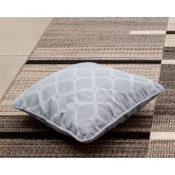 スペイン製ジャカード織りクッションカバー〈モノトーン〉1枚・約45×45cm用 (ア)オバル