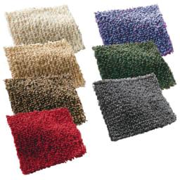 スペイン製カバー[エデン] クッションカバー(同色2枚組) 約45×45cm 写真左(ア)アイボリー(イ)ベージュ(ウ)ブラウン(エ)レッド、、写真右(オ)バイオレット(カ)モスグリーン(キ)グレー